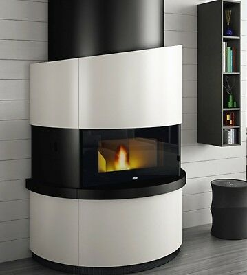 kaminofen 12 kw pellet komplett eva calor michelangelo modern design eur picclick de. Black Bedroom Furniture Sets. Home Design Ideas