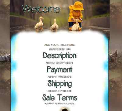 CHILDREN ARE BLESSINGS eBay Listing Auction Template Supports St. Jude's Charity