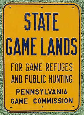 """Pa Penna Pennsylvania Game Commission NEW Metal 10"""" x 14"""" State Game Lands Sign"""