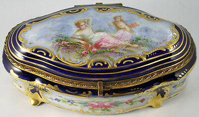 Sevres Style Porcelain Jewelry Box