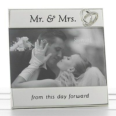 Gorgeous Silver Sentiment Mr & Mrs Photo Frame From This Day Forward