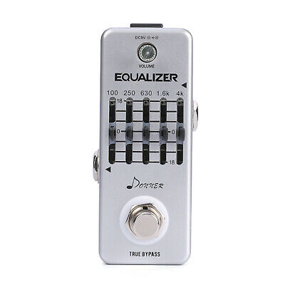 Donner New Equalizer Pedal 5-band Graphic EQ Guitar Effect Pedal US Stock