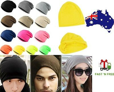 Unisex Men Women Winter Warm Ski Knit Hip Hop Cool Hiphop Cap Beanie Hat Cotton