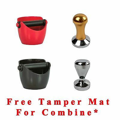 Coffee Tamper 51 57.5mm or Avanti Knock Box Bin for Barista Espresso Grind Waste