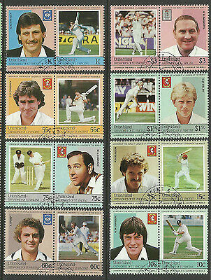 ST.VINCENT UNION ISLAND 1984 CRICKETERS Set 16 Values USED