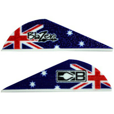Bohning 2 Inch Blazer Vanes Australia Flag - 36 Pack - Arrow Fletching Archery