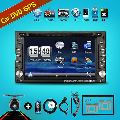 "6.2"" 2 DIN Autoradio GPS NAVI Bluetooth Touch Screen DVD CD MP3 Player USB SD"