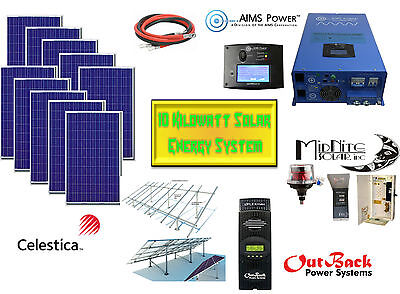 10KW Off Grid Solar Energy System For Cottages, Homes & RV's - 2.35 KW Solar