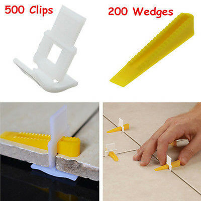 700 Tile Leveling Spacer System 500 Clips + 200 Wedges Flooring Level Lippage