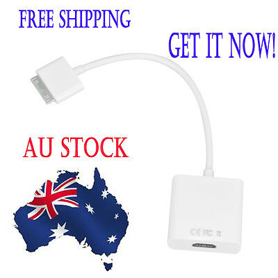 1080P Dock Connector to HDMI Adapter AV Cable HDTV TV for iPhone 4S iPad 2 3 AU