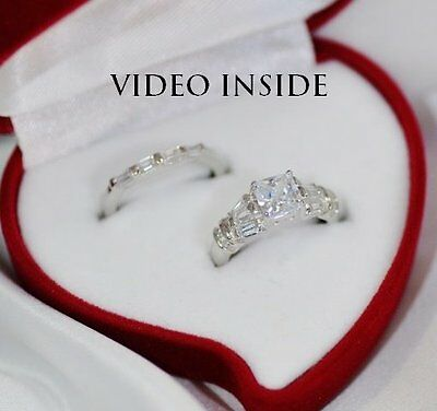 1.88 Carat Diamond Wedding Ring Sets Fine Sterling Silver