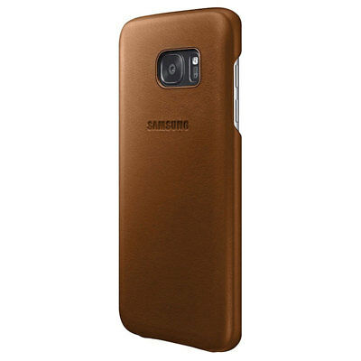 OFFICIAL GENUINE  SAMSUNG GALAXY S7 Edge  LEATHER CASE PROTECTIVE BROWN COVER