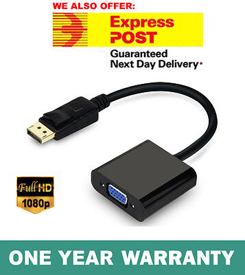 Displayport Display Port Male to VGA Female Video Converter Adapter Cable