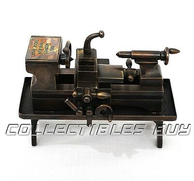 Lathe machine miniature model vintage London manufactured non working gift item