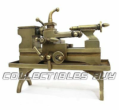 Lathe Model New Man London - Vintage Machine Miniature solid brass made Gift