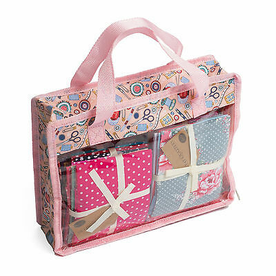 Hobby Gift Contemporary Notions Pink Fat Quarter Quilting Fabric Storage Bag