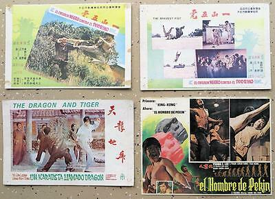 F125 Lot of 4 Kung Fu Mexican Lobby cards