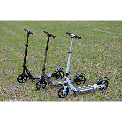 Adult Commuter Push Scooter 200mm Wheel folding for work Transit Dual Suspension