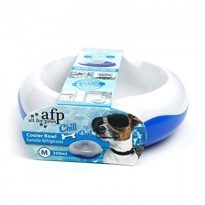 All For Paws AFP Dog Puppy Chill Out Cooling Cooler Water Food Bowl 3 Sizes