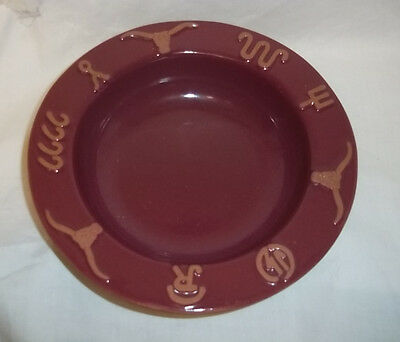 Frankoma Pottery Red Ranch Soup Cereal Bowl Terra Cotta Western Design Rare