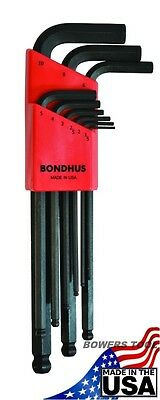 Bondhus 9 pc Ball End Metric Hex L Wrench Set 1.5 - 10 mm MADE IN USA 10999