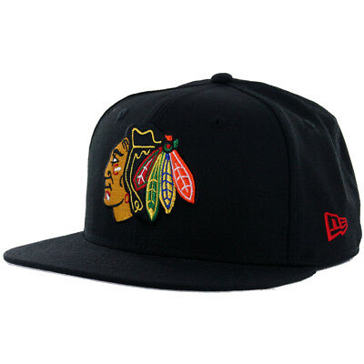 New Era 59Fifty Chicago Blackhawks Fitted Hat (Black) Men's NHL Hockey Cap