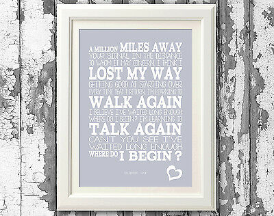 Foo Fighters - Walk - Song Lyrics Prints and Poster Typography Art Designs