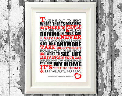 Song Lyrics The Smiths There Is A Light Poster Art Typography Print Designs