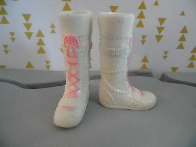 Bratz Doll White Boots With Pink Laces
