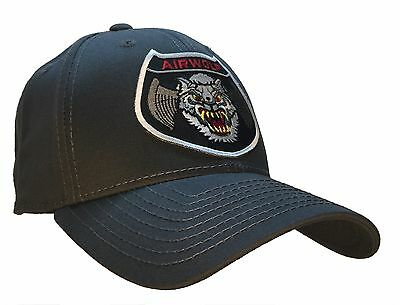 Airwolf Hat Bell 222 Helicopter 100% COTTON Dark Gray Ball Cap