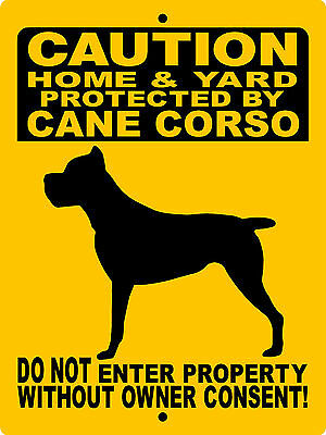 CANE CORSO Guard Dog Aluminum Sign  Vinyl Decal 2652CC