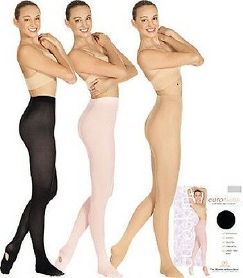 New Euroskin Convertible Dance Tights Child & Adult (Multiple Colors)