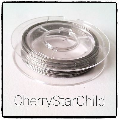 silver .38 gauge tiger tail for jewellery 10 metre spool roll crafts beads