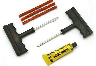 Tubeless Tyre Repair Kit - Hand Tools Car Van Vehicle Wheel Hole Tyres Puncture