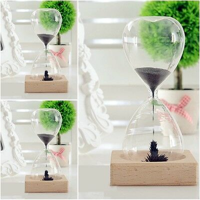 Magnetic sculpture sand timer gift, 'hour glass' style mantelpiece decoration SJ