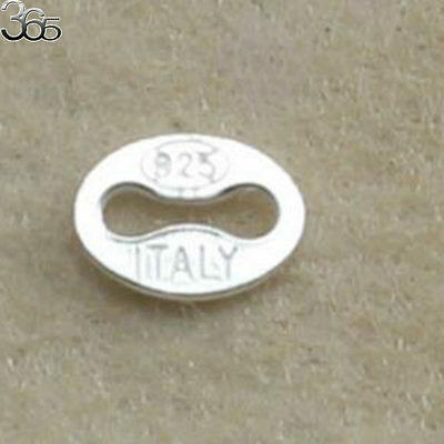 Wholesale Jewelry Making DIY Sterling 925 Silver Oval Connector Spacer 4x5mm