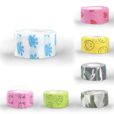 4.5m*2.5cm Pet Horse Dog Cat Vet Wound Cohesive Bandage Self Adherent Wrap Tape