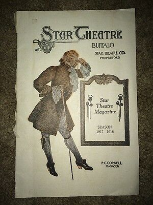Star Theatre Magazine Buffalo NY, Season 1917-1918
