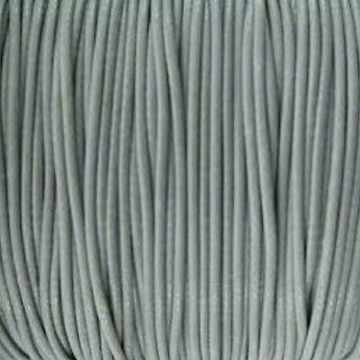 10m grey silver 1mm cotton cord DIY necklace jewellery string macrame beading