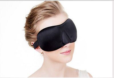 3D Sleeping Eye Mask Blindfold Earplugs Shade Relax Sleep Cover Light