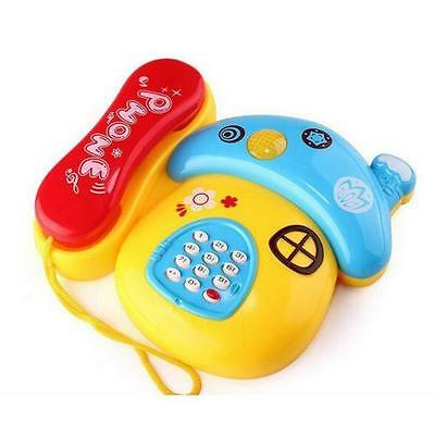 Cute Plastic Electronic Musical Telephone Learning Toy Gift For Toddler Kids New