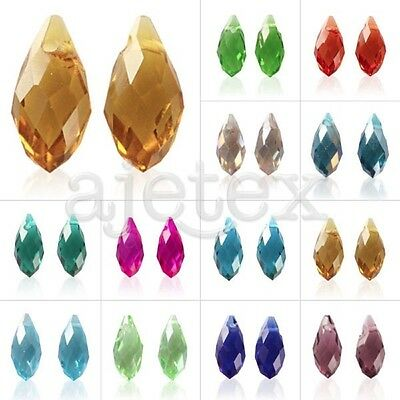 20pcs #6010 Crystal Beads Teardrop Top Drilled DIY Jewelry Making 12/13mm