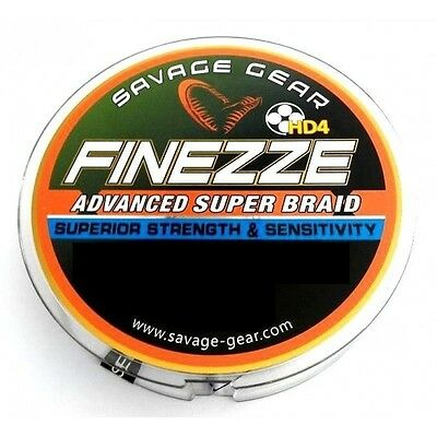 Savage Gear Finezze Advanced Super Braid HD4 120m - Grey - 3 Sizes Available