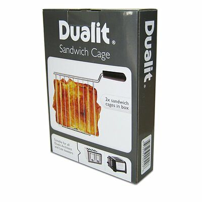 2X Dualit Sandwich Holder Cage Lite and Architect Model 2, 4 Slot Bread Toasters