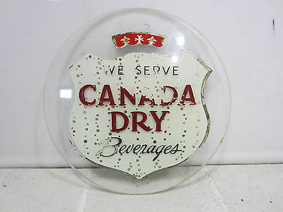 Vintage Canada Dry Beverages Embossed Glass Panel #5