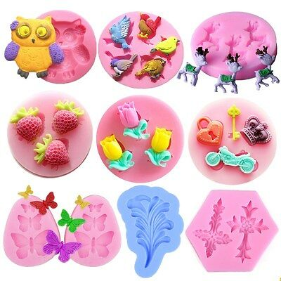 3D Silicone Fondant Mold Cake Decorating Chocolate Sugarcraft Baking Mould Tools