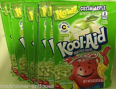 20 Kool-Aid Green Apple unsweetened Drink Mix Expires 2017