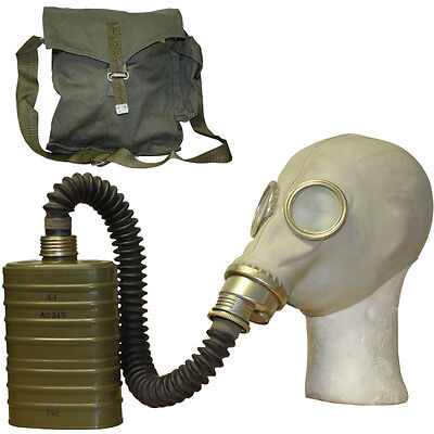 Soviet Gas Mask With Bag And Filter Genuine Russian Army / Military Surplus