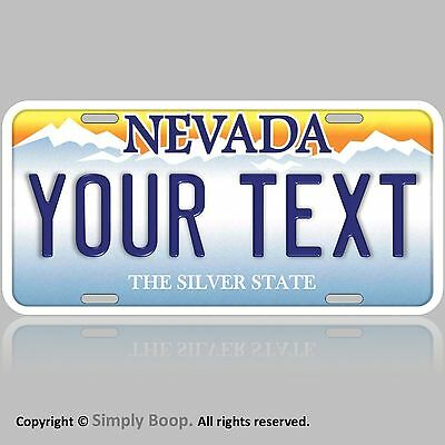 """Nevada YOUR TEXT Personalized Text Aluminum Vanity License Plate Tag 6""""x12"""" NEW!"""