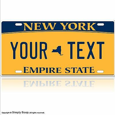 New York License Plate Customized To Any Text You Want Aluminum